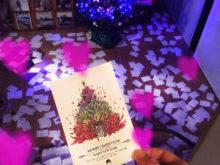クリスマスカードに♡魔法中