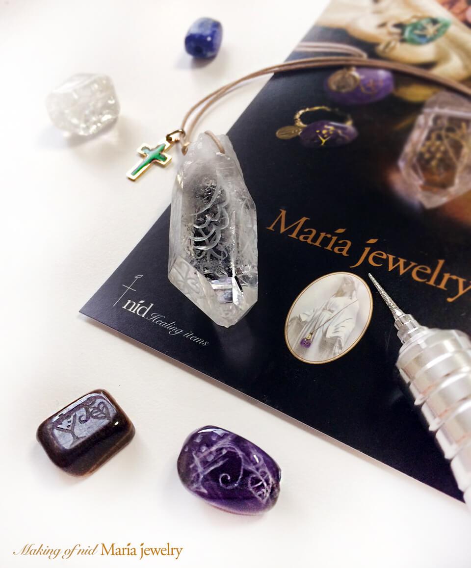 マリアの宝石_彫り上げ