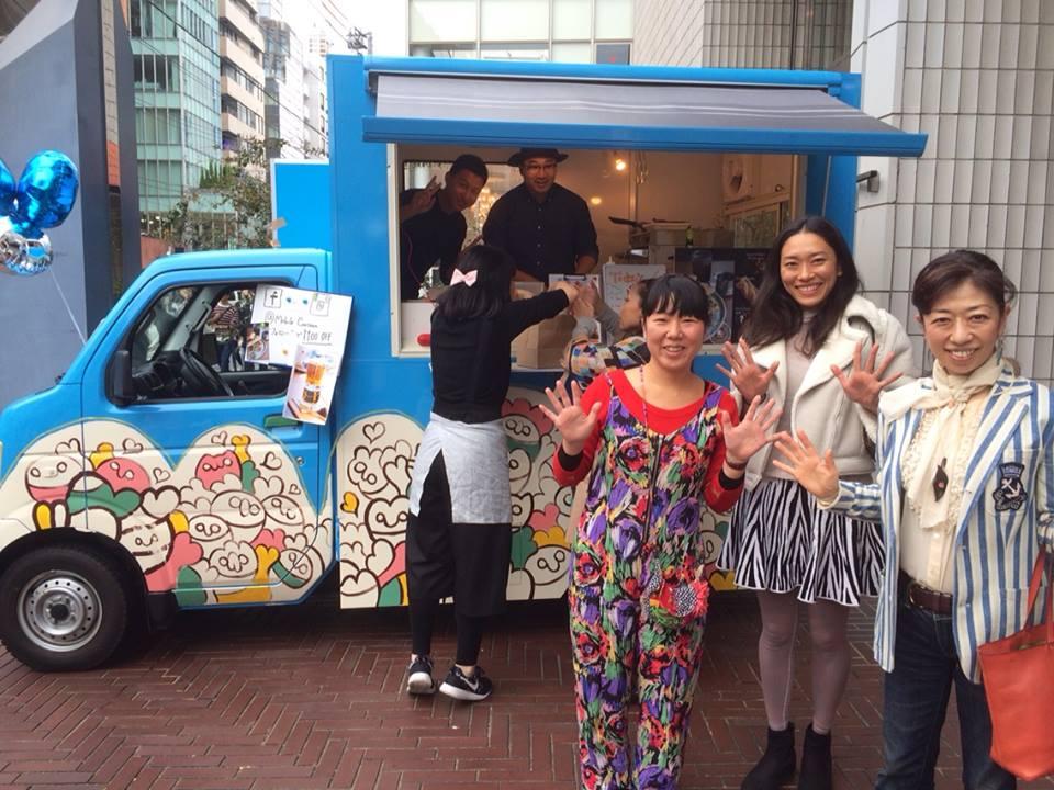 表参道アートフェスティバルで、ペイントアーティスト Asakoちゃんと☆