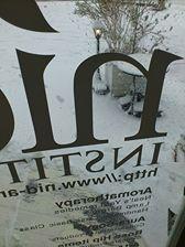 nidロゴと雪のガス灯