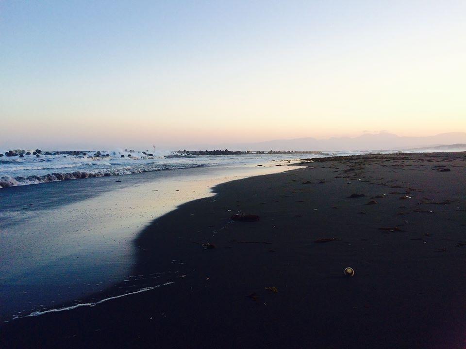 平塚ビーチのサンセット