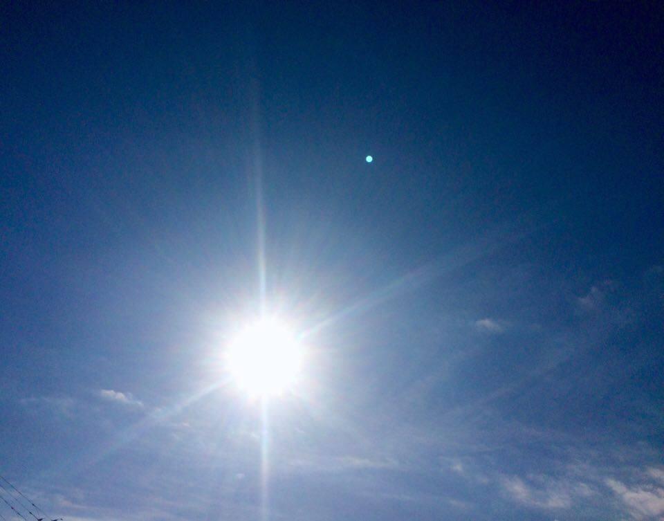 バレエの前太陽の光