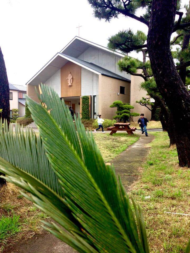 シュロの祝日 教会アンの小径