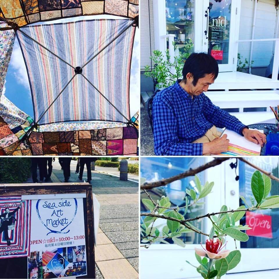 Sea side Art market 要田さんとフェイジョア