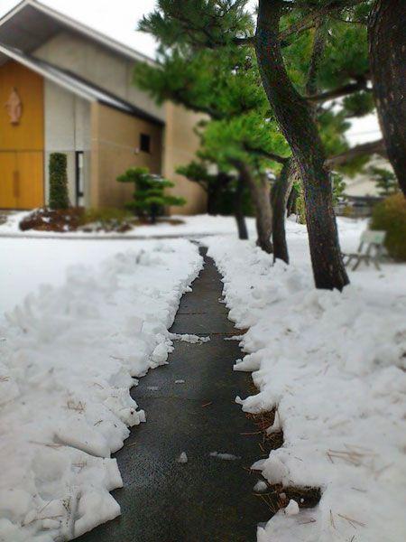 教会から雪掻き