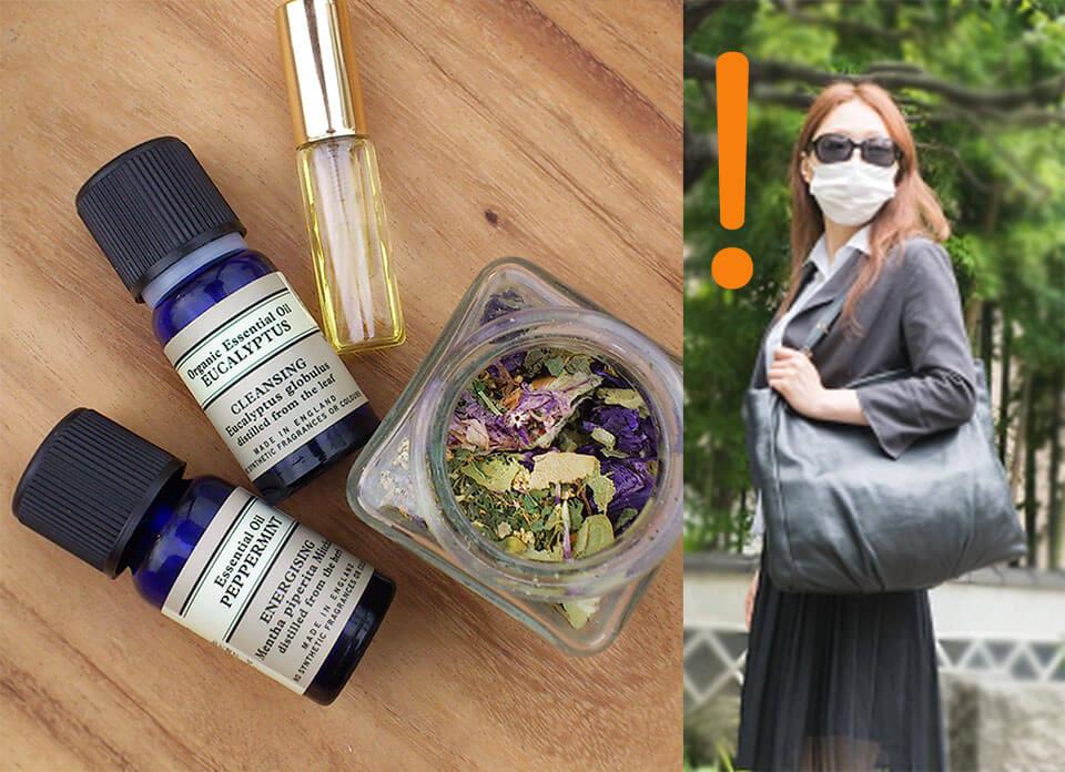 花粉症対策とマスク女性