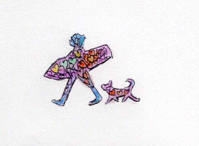Xカード2018_スキム君と犬