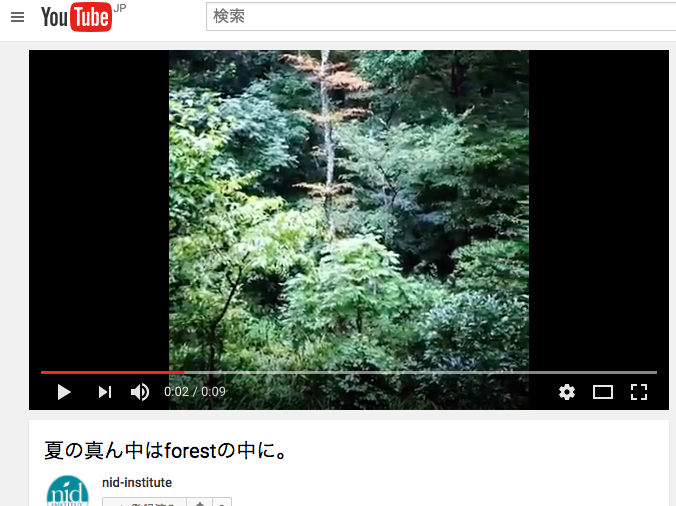 森のYouTube