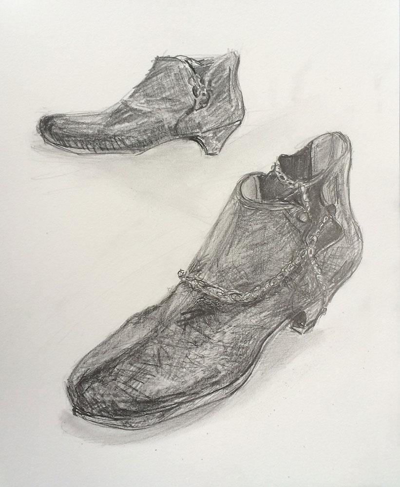 2014_9_18私の靴_アートクラス