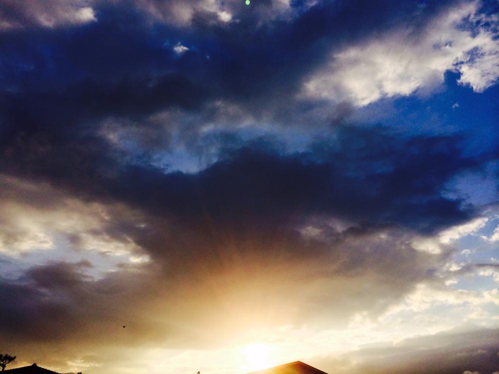 梅雨の合間の太陽2014_6_12