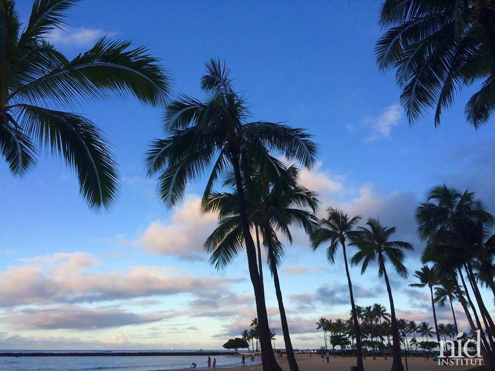 Hawaiiエナジーチャージ2016.8_初日ワイキキビーチの朝
