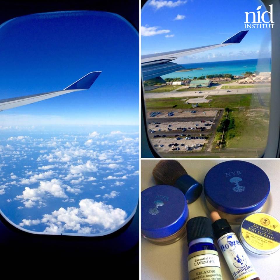 Hawaiiエナジーチャージ2016.8_飛行機の中でスキンケア☆