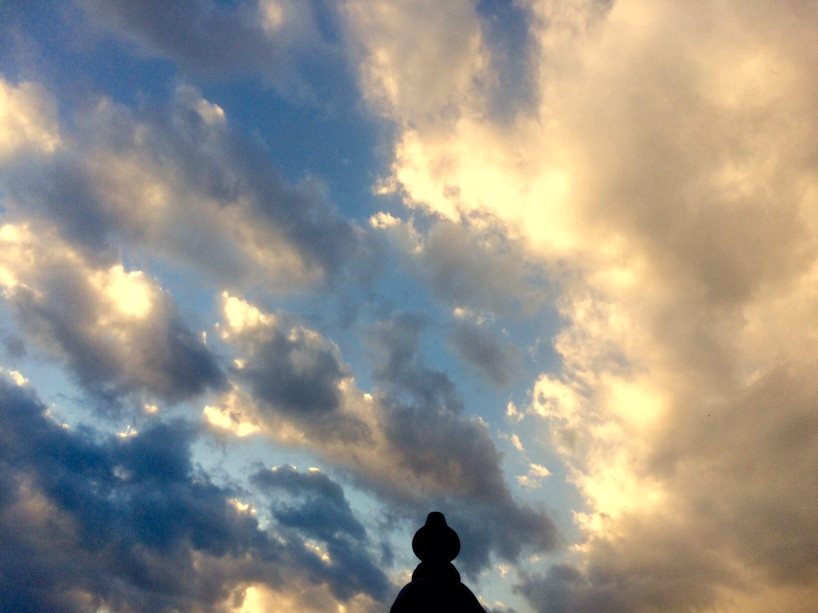 nidの空 夕焼け前