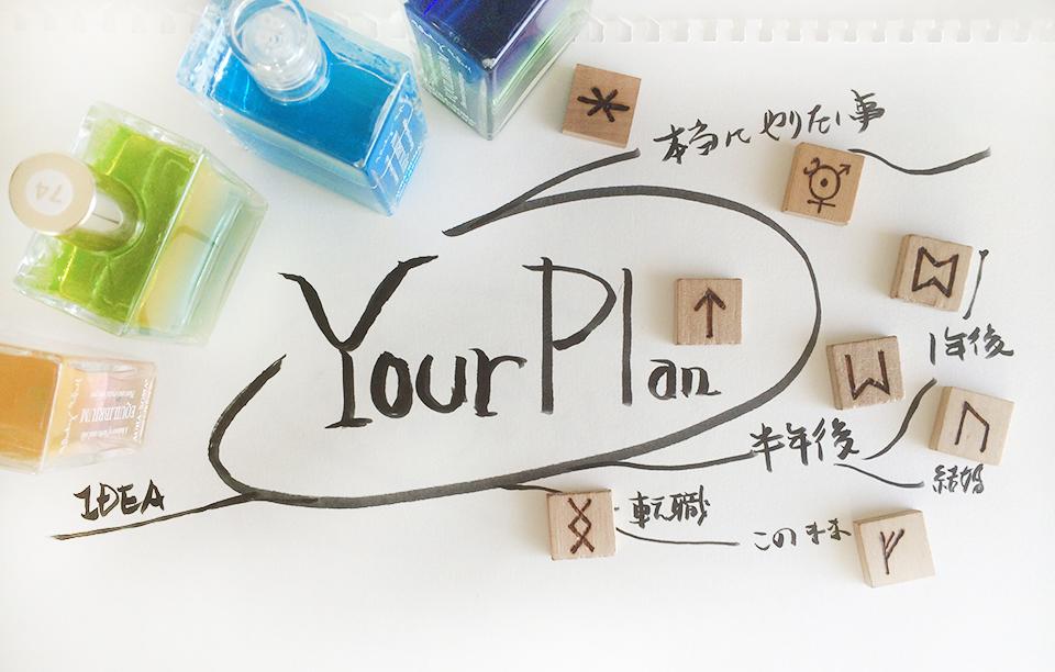 「あなたプランニングコース」マインドマップを描きどんどんアイデア出し。ルーンの神託も。