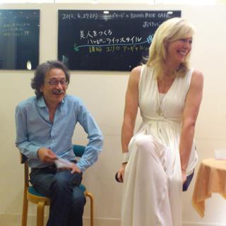 20120704_エリカさんのトークイベント。社長梶原氏と。