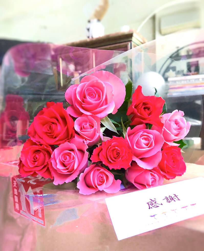 母の日の長男の薔薇