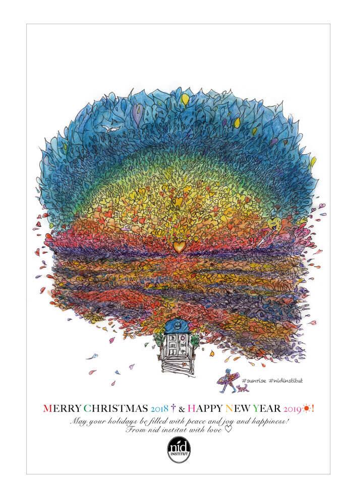 クリスマス&新年カード2018表