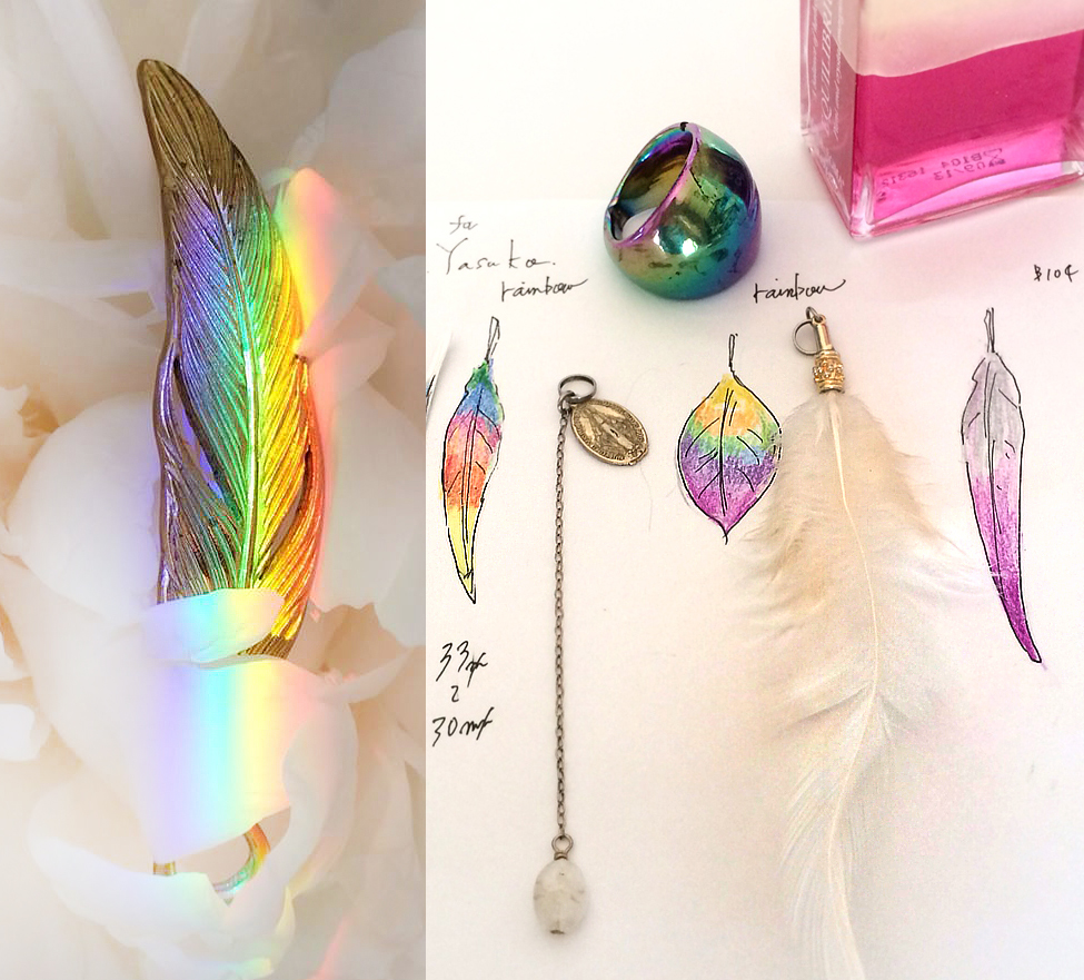 虹のチタンの羽根_デザインとイメージ